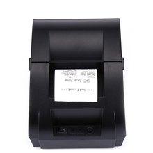 Nueva ZJ-5890K Mini 58mm POS Impresora Puerto USB Blanco y Negro Impresora Térmica de recibos Construido en la Fuente De Luz con USB Puerto de LA UE enchufe