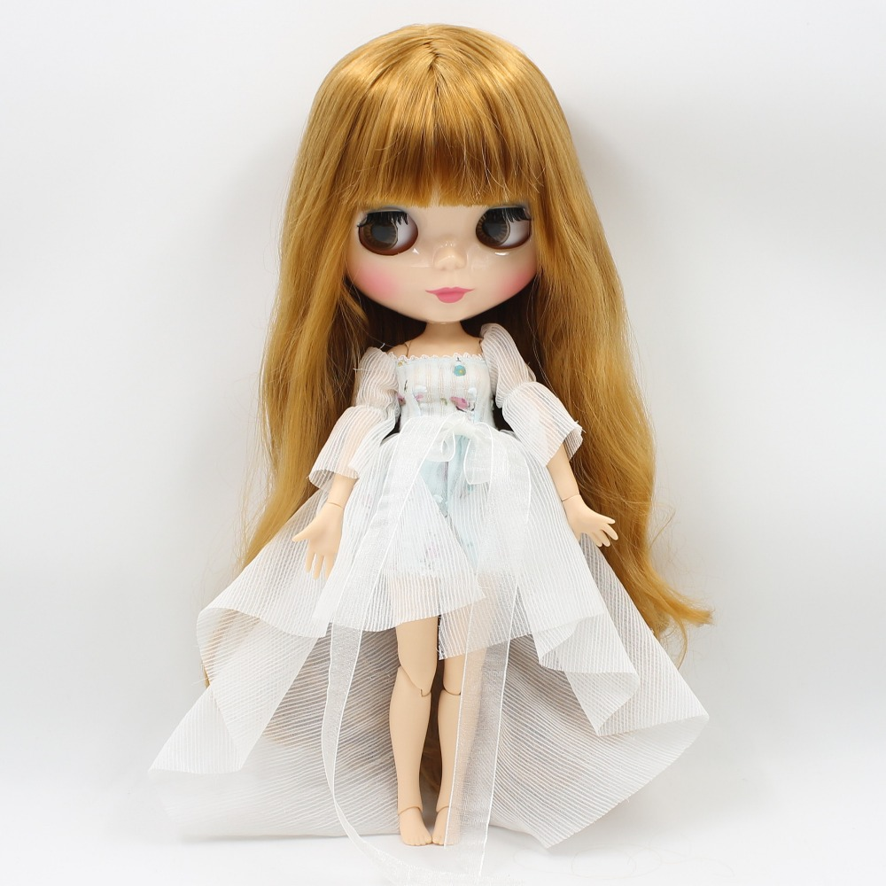 Neo Blythe Doll with Blonde Hair, Natural Skin, Shiny Face & Jointed Body 2