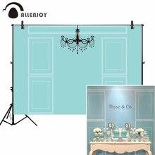 Allenjoy tło tło zielony niebieski ślub czarny żyrandol elegancka dekoracja ścienna zdjęcie fotograficzne photophone