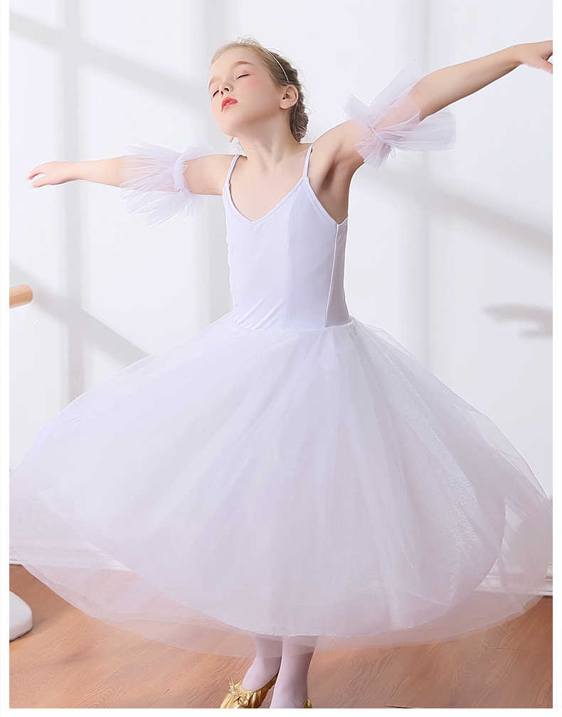 780a493955 ... Nuevas faldas tutú de Ballet para niñas Giselle Swan blanco estilo  romántico largo tutú Ballet danza ...