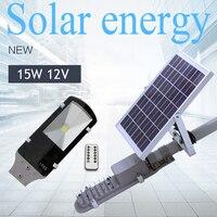 Waterproof 15W 12V Solar Lights Outdoor Solar Powered Panel LED Street Lights Road Lamp Lampada Solar