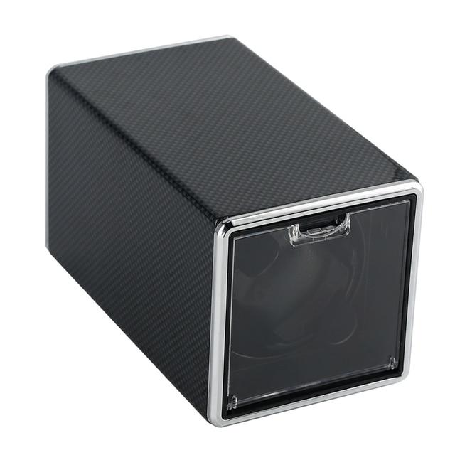 Reloj de cuero negro de fibra de carbono, Motor de bobinado cuadrado, caja giratoria automática, reloj mecánico, Cable USB