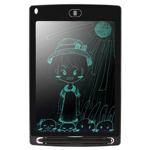 "8.5"" Portable Smart LCD Digital Writing Tablet Electronic Notepad Drawing Painting Graphic Pad Board eWriter w/ Pen Cell Battery"