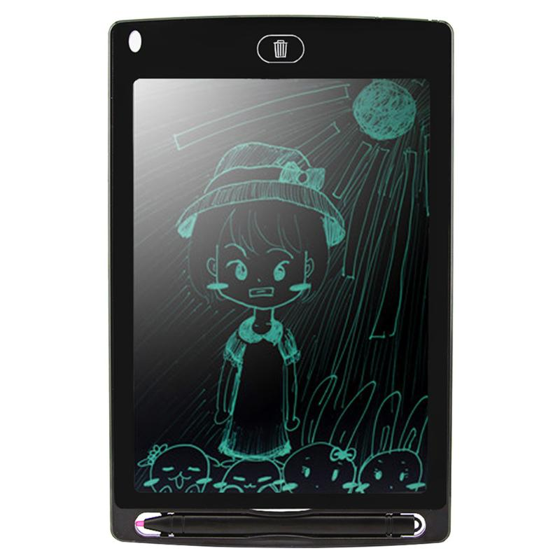 8.5 Portable Smart LCD Digital Writing Tablet Electronic Notepad Drawing Painting Graphic Pad Board eWriter w/ Pen Cell Battery