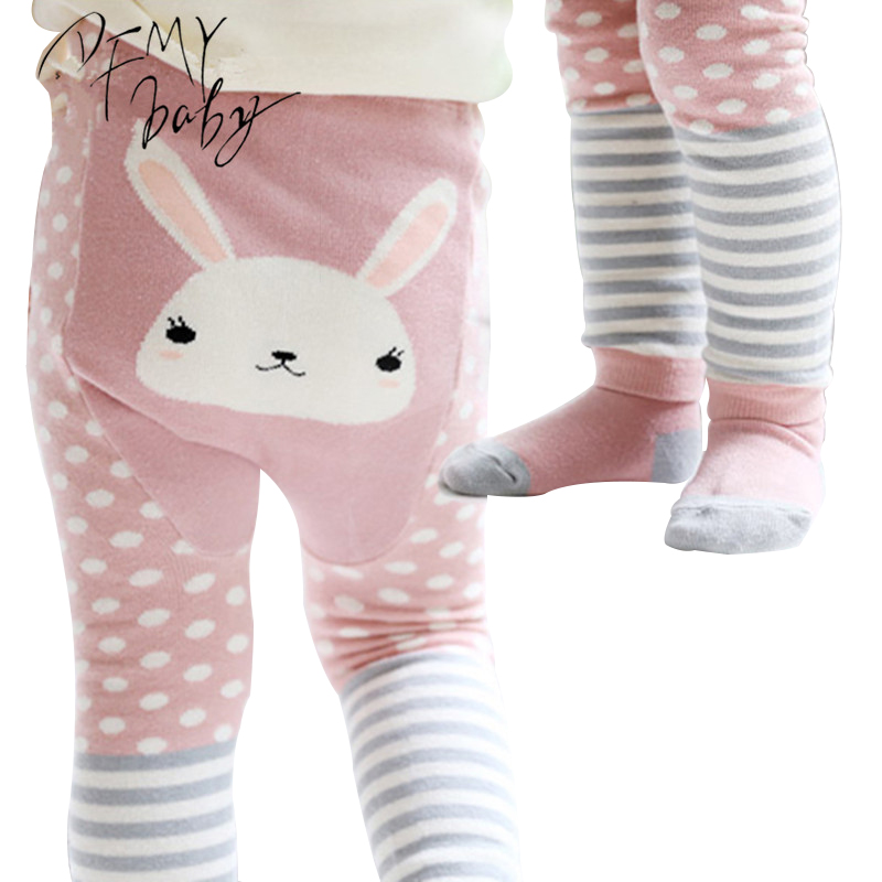 0-3T Girls Boys Baby Tights+Short Cotton Cartoon Tights Kids Spring Pantyhose Baby Girl Children's Clothing