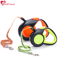 Reflective Retractable Dog Leash Nylon Rope Tape Reflect Light Patch 3M 5M Automatic One Touch Controls