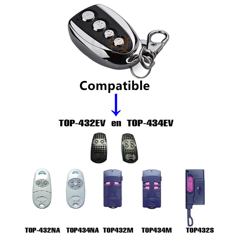 QIACHIP 433.92 Mhz Duplicator Copy CAME remote control TOP 432EV TOP-432NA TOP432NA For Universal Garage Door Gate Key Fob