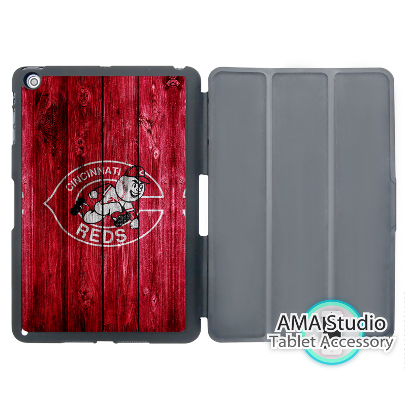Cincinnati Reds Baseball Fans Folio Cover Case For Apple iPad Mini 1 2 3 4 Air Pro 9.7 10.5 12.9 2016 2017 a1822 New