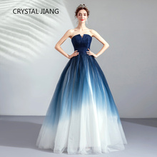 2019 Gradient Tulle Bridesmaid Dress Custom made A Line Long Dress for Wedding Party Maid of Honor Dresses for Weddings