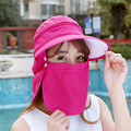 The New Korean Hat Lady Outdoor Sun Hat Summer Sports  Hat Sunscreen Cover The Face Along The Beach Hat