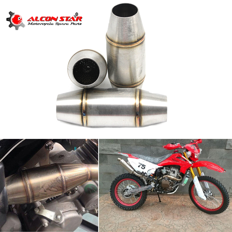Alconstar- 36mm Motorcycle Exhaust Pipe Muffler Catalyst Expansion Chamber For CRF RMZ DRZ KTM YZF KXF CRF WRF WR YZ Exhaust