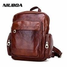Niuboa женская обувь из натуральной кожи рюкзак Новый женский Сумки Винтаж Малый из натуральной кожи сумка Винтаж Роскошные школьная сумка пакет