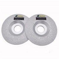 2PCS 4 Vacuum Brazed Diamond Cup Wheel For Multi Purpose Convex Grinding Wheel For All Stone