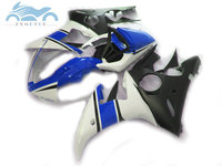 High grade motorcycle fairings kit for YAMAHA R6 YZFR6 2003 2005 YZF R6 03 05 ABS fairing kits blue white black parts DF45