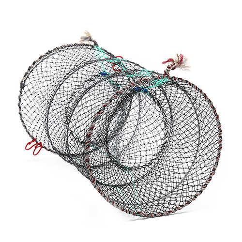 낚시 접을 수있는 함정 던지기 그물 게 왕새우 가재 포수 냄비 함정 물고기 그물 장어 새우 라이브 미끼 뜨거운 판매 1pc