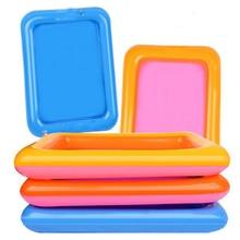 Надувной лоток для песка, пластиковый мобильный стол для детей, для игр в помещении, песок, глина, цветные грязевые игрушки, аксессуары, многофункциональные