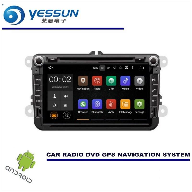 Navigation multimédia de voiture YESSUN pour Skoda Fabia MK2/Fabia MG/Fabia 5J lecteur CD DVD GPS Radio stéréo écran HD Android