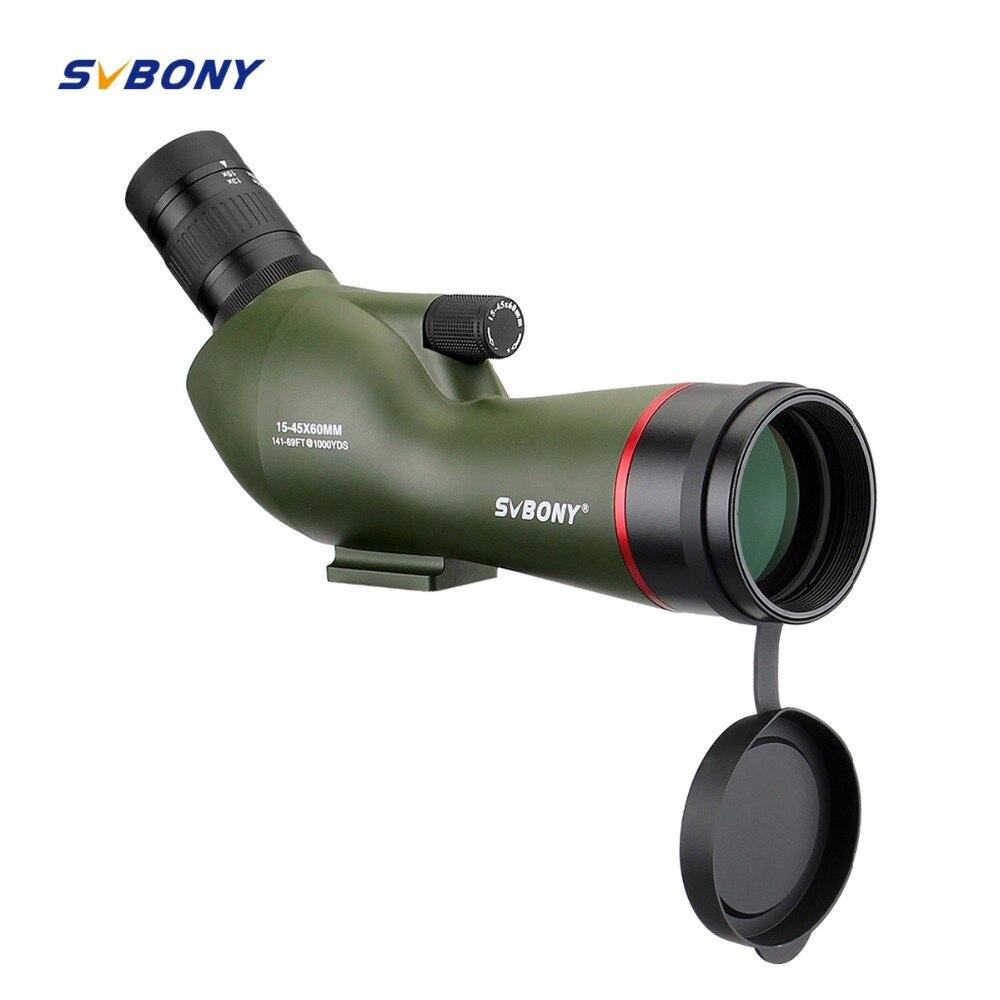 SVBONY 15-45x60 Telescope SV19 BAK4 Prism Nitrogen Waterproof for Archery Birdwatching FMC Spotting Scope +Phone Adapter F9328G цена