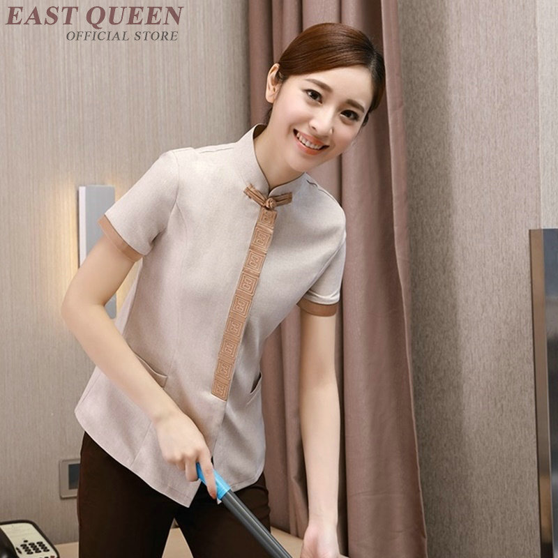 Housekeeping Cleaning Services Uniforms Hotel Accessories Women Maid Room Service Uniform Shirt  DD1015 Y