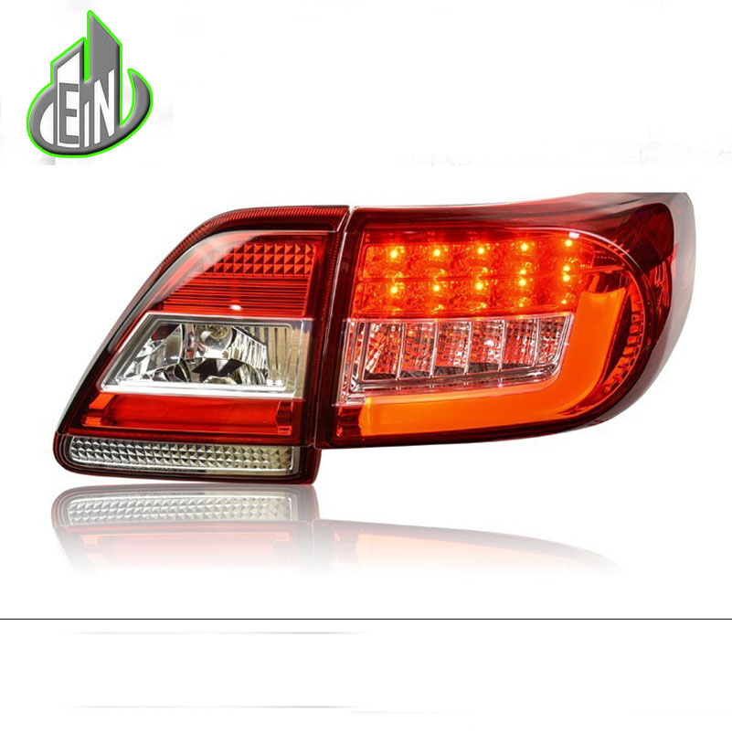 EN Car Styling Tail Lamp For Corolla Tail Lights 2011-2013 Altis LED Tail Light Rear Lamp LED DRL+Brake+Park+Signal Stop Lamp 50pcs 35v 470uf 10 17mm 10 17 10mm 17mm 10 17mm electrolytic capacitor