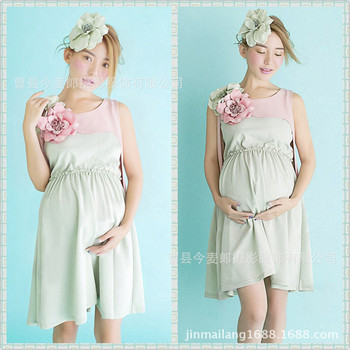 Newest Pregnant Photography Props Elegant Pregnant Dress Maternity Photography Dress Fancy Pregnancy Photo Shoot