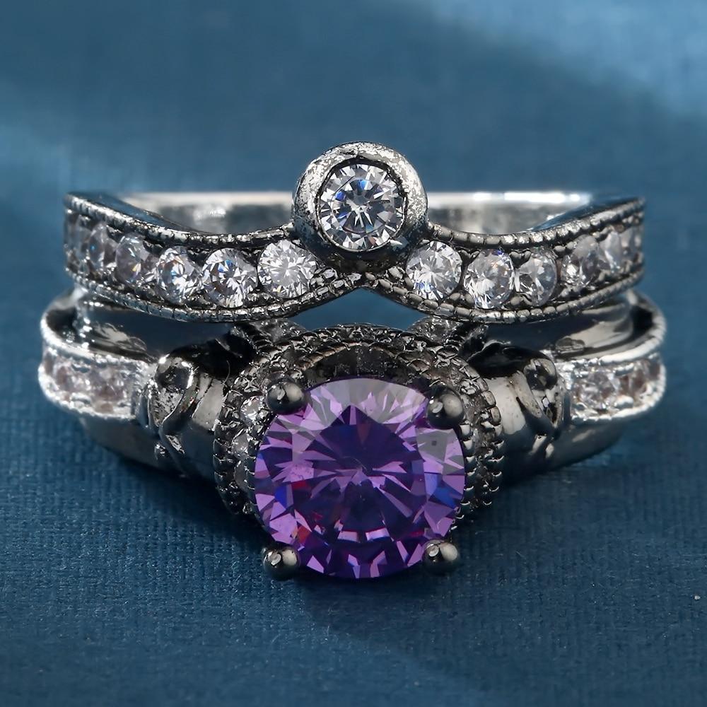 Darky anneau zircon violet