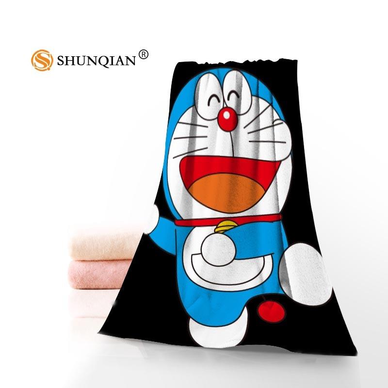 New Custom Doraemon Towel Printed Cotton Face/Bath Towels Microfiber Fabric For Kids Men Women Shower Towels A7.24