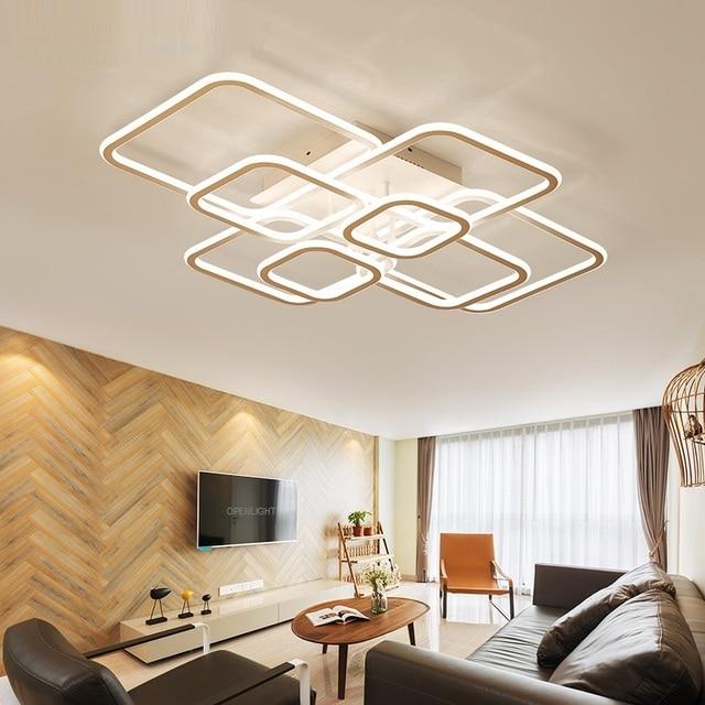 Bright Square Double Sided Led Ceiling Light Restaurant Living Room Bedroom Study Hall Lamp Commercial Lighting