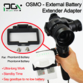 PGY DJI OSMO External Battery Extender Adapter connector phantom 3 4 battery X5 X3 Handheld gimbal drone parts accessories