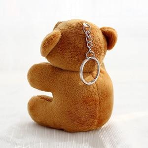 Image 4 - 8cm mini Bear Stuffed Animals Plush Toys For Children Kawaii Plush Soft Toys Keychain Baby Doll Speelgoed Christmas Gift