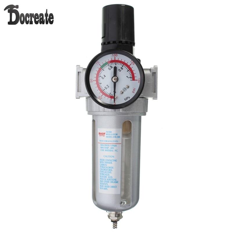 SFR200 Pneumatic Air Filter Regulator Gas Source Treatment Pressure Gauge 397 15 pneumatic air source treatment filter regulator