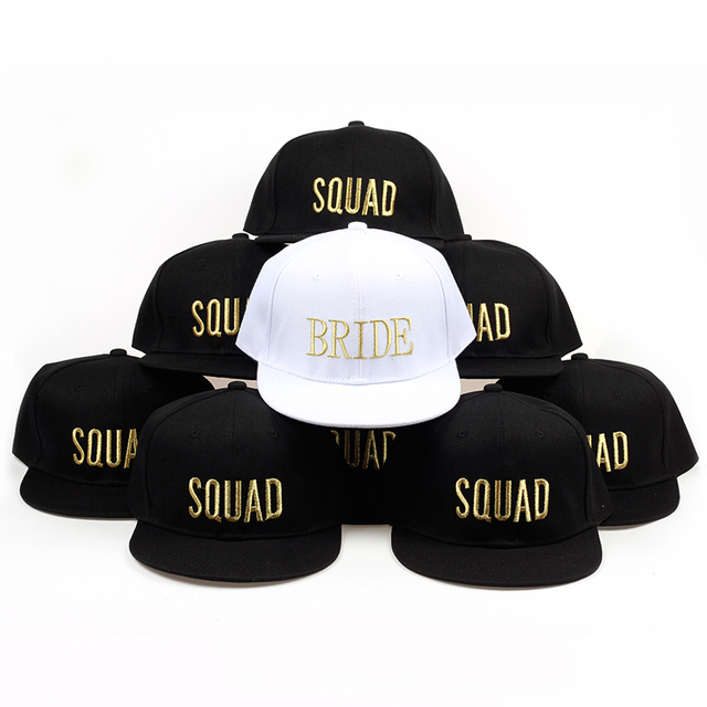 bride squad printing baseball cap for wedding party adjustable cotton snapback  hats women s sun hat outdoor casual caps 3ff7a602d1a3