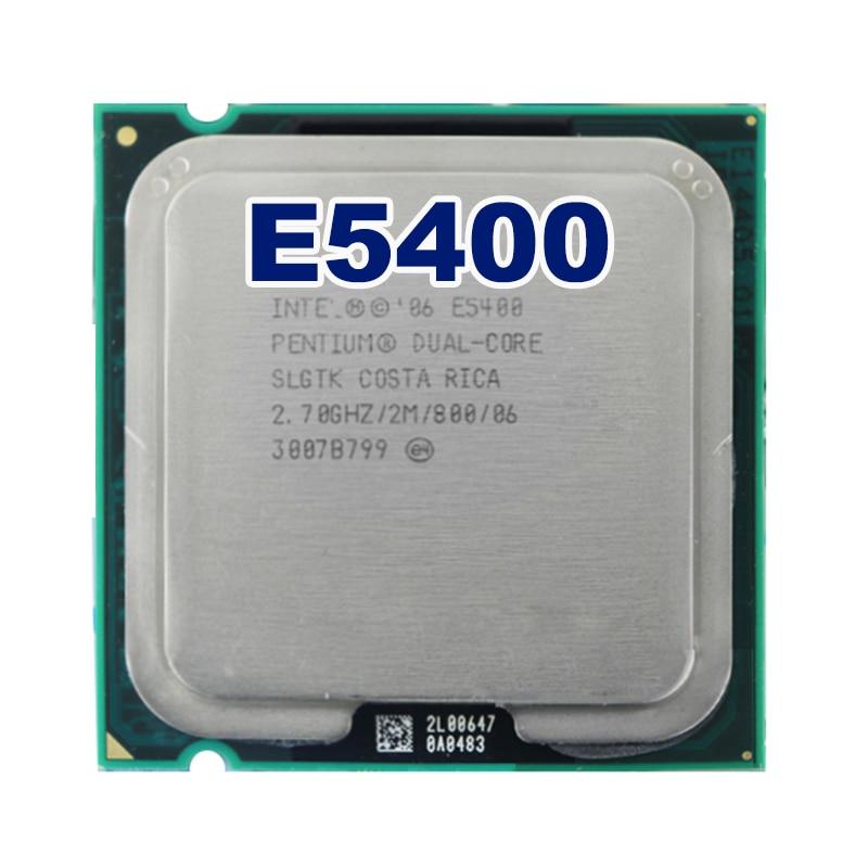 Original  Intel Pentium Dual-Core E5400  Socket LGA  775 CPU Processor (2.7Ghz/ 2M /800GHz)  Free Shipping