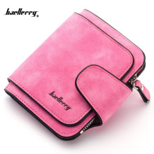 Jenama Baellerry 2017 New Nubuck kulit pendek Lady Wallet Lady Style Segar Girls Notecase Pocket Coin Purse Perempuan