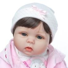 "NPK 2019 New desigen Baby Girl Reborn Dolls Kids Toy Full Silicone Vinyl 22"" 50 cm Real Life Baby Reborn Alive Doll"
