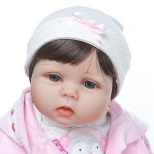 Image 4 - Npk 2019 Nieuwe Desigen Baby Meisje Reborn Poppen Kinderen Speelgoed Zachte Siliconen Vinyl 22 50 Cm Echte Leven Baby reborn Levend Pop