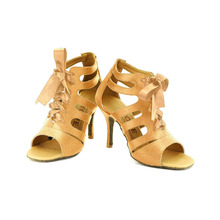 YOVE Dance Shoes Satin Women's Latin/ Salsa Dance Shoes 3.5″ Slim High Heel More color LD-7007