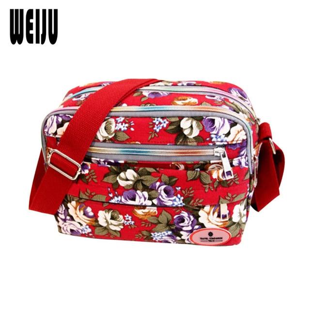 WEIJU Small Women Shoulder Bag 2017 Korean New Fashion Printing Women Messenger Bags Canvas Bags Mummy Bag Ladies