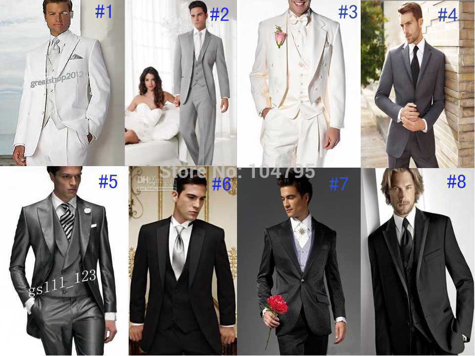 Online Shop Different Unique Styles Groom Tuxedos Best Man Lapel