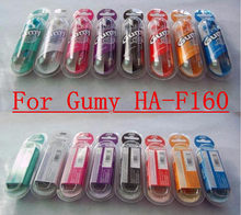 50pcs/lot Colorful 3.5mm HA-F160 For iphone 6 5 Gummy In-Ear Earphone For MP3/MP4/PSP Mobile Phone Free Shipping High quality(China)
