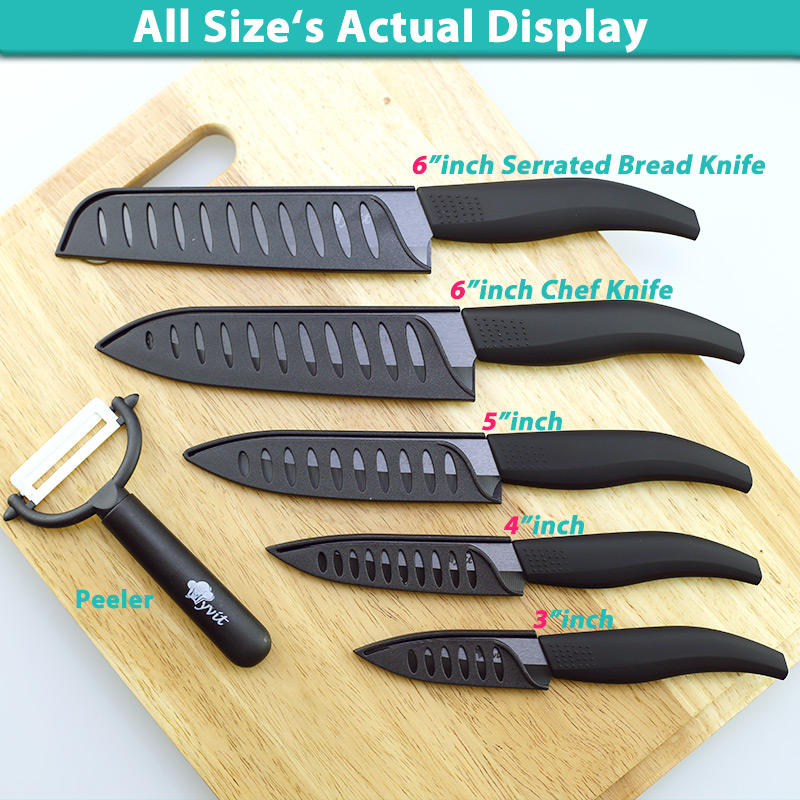 Professional Master Chef Zircon Ceramic Knives 3