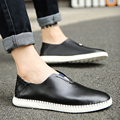 2017 Brand New Spring Autumn Men Leisure Slip-on Loafers Good Quality Leather Upper Man Casual Driving Walking Shoes monk shoes