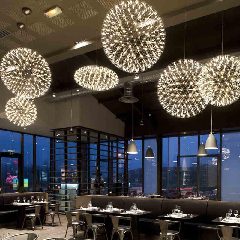 Modern tűzijáték medállámpák LED-es csillaggömbös függő - Beltéri világítás