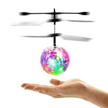 Hot RC Toy EpochAir RC Flying Ball Drone Helicopter Ball Built-in Shinning LED Lighting for Kids Teenagers Colorful Flyings 450 rc helicopter screws linkage ball washers for trex 450 helicopter
