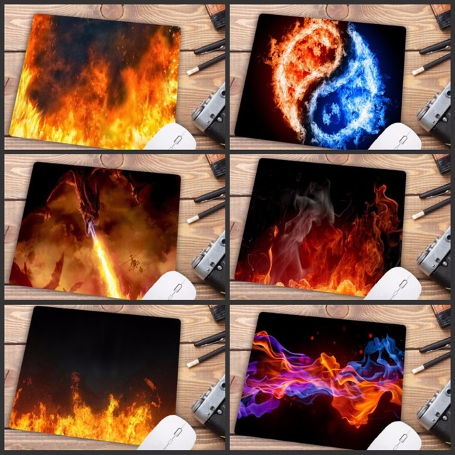 Mairuige Fashion Fire Pattern Printing Mousepad Rubber Rectangle Computer Notebook Mice Mat Gamer Speed Mouse Pad 220*180*2MM
