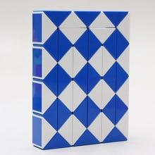 Color Random 48 Blocks Cube Children s Educational Snake Ruler Cubes Spinner Puzzle Imagination Game Toy