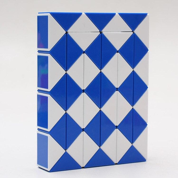 Color Random 48 Blocks font b Cube b font Children s Educational Snake Ruler font b