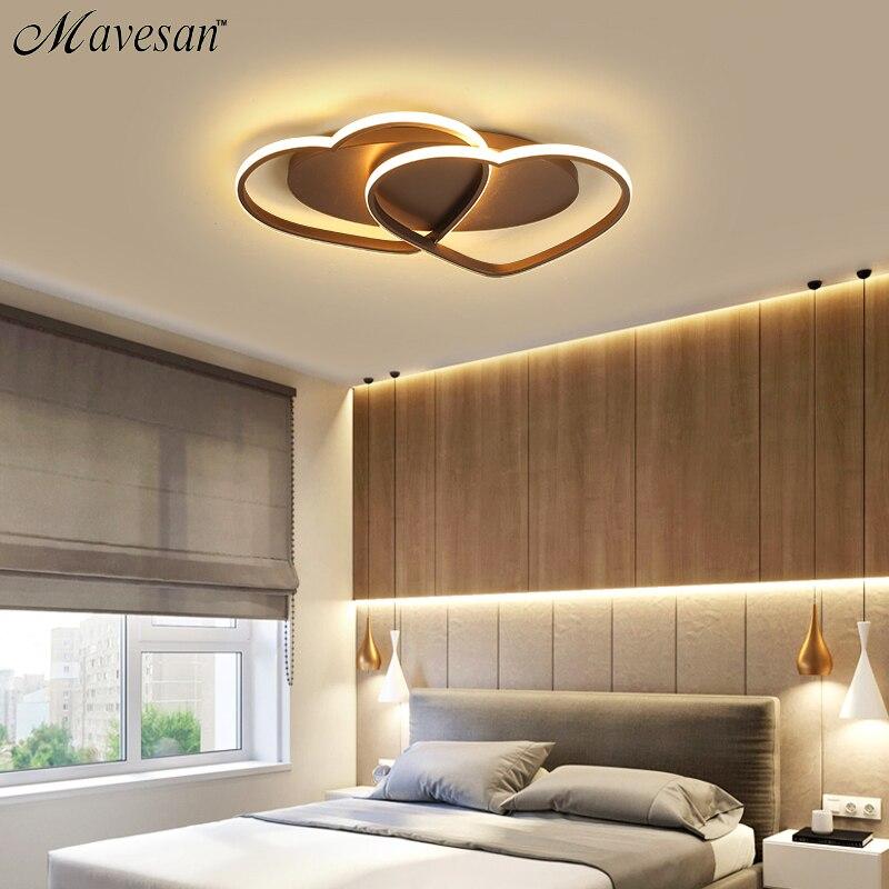 Led Люстра потолочная современные лампы освещения Plafondlamp сердце-образный свет для Гостиная Спальня Ресторан Ванная комната 85 В-260 В