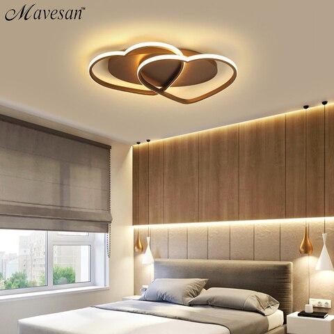 plafondlamp coracao em forma de luz para sala
