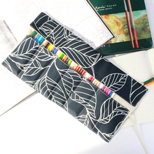 Flower Pencil Case Students 7/9/13 Pokets Pencil Wrap Stationary Roll Brush Pencil Storage Bag For Painting School Supplies 2018 new arrival 48pcs pencil sketch pencil set brush pen knife drawing pencil for students school painting stationary tool